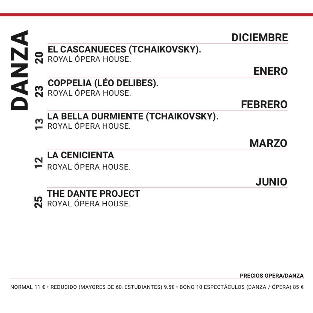 Calendario de Danza 2019 2020 Tenerife