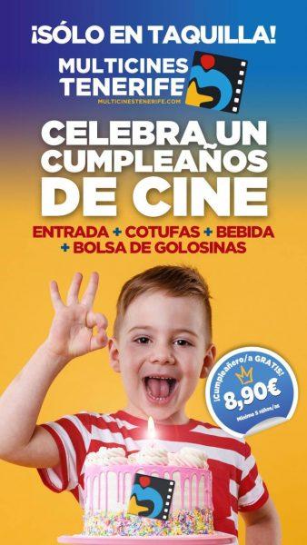 Cumpleaños Cine en Tenerife